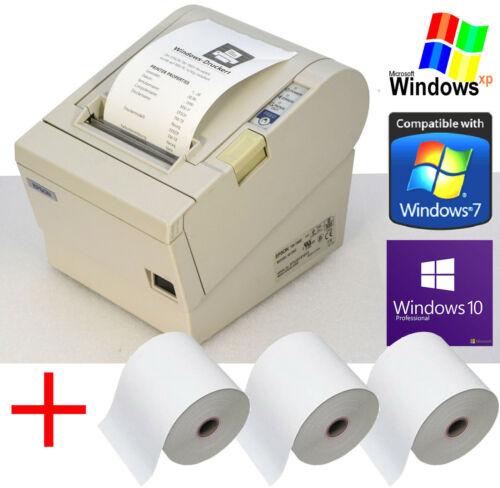 USB+RS232 KASSENDRUCKER EPSON TM-T88III GASTROKASSE EINZELHANDEL 3x BONR 88-3
