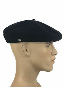 Laulhere French Beret Basque Campan 100% Wool Black Size 7 (10-56 ... 3a3db53d49