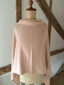Luxury-Cashmere-wool-viscose-Blend-Multiway-Poncho-In-Nude