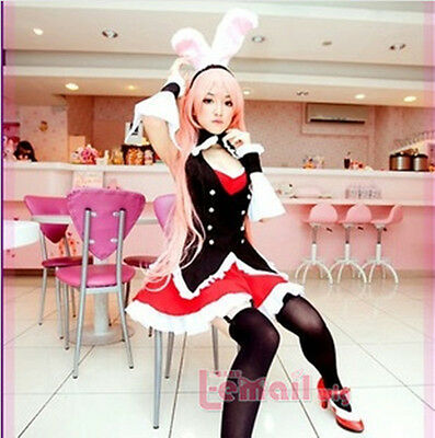 Maidservant outfit Bunny Girl waitress cosplay costume Fancy Dress WSJ21