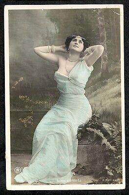 CPA PHOTO ACTRICE LIANE DE VRIES S-333-4432 Texte Poisson d'avril amusznt 1906