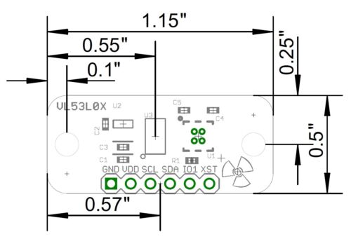 ST Micro VL53L0X Time-of-Flight Range//Distance Sensor 0-2m range 3V-5.5V IO