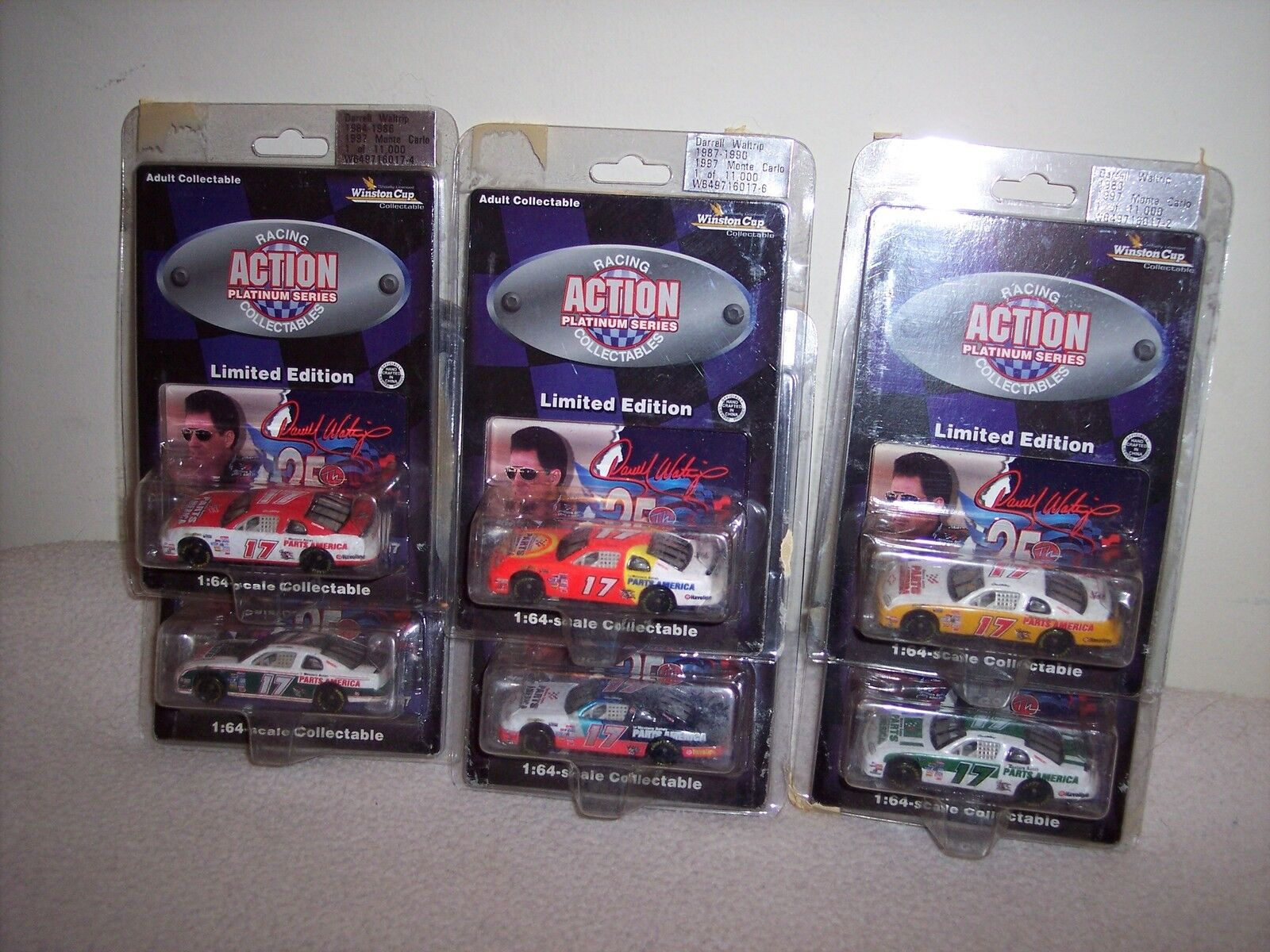 Action-Darrell Waltrip 6 Voiture Set-very hard to find-WINSTON CUP SERIES
