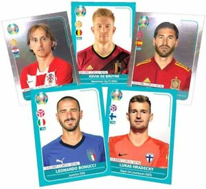 10 PANINI UEFA EURO 2020 aperçu Autocollant Stickers 5 20 Packs /& poche étain