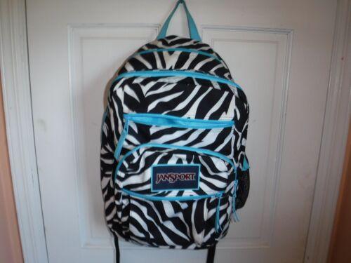 Pre Owned Back to School Zebra Pattern Jansport Ba
