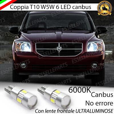 COPPIA LUCI POSIZIONE T10 6 LED CANBUS CON LENTE AUDI Q7 4L NO ERROR BIANCO