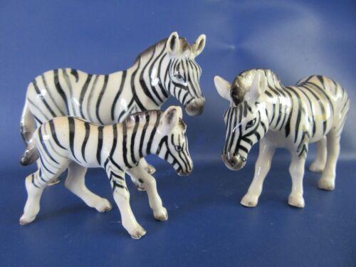 Klima Miniature Porcelain Zebra Family Zebra Family Ornaments