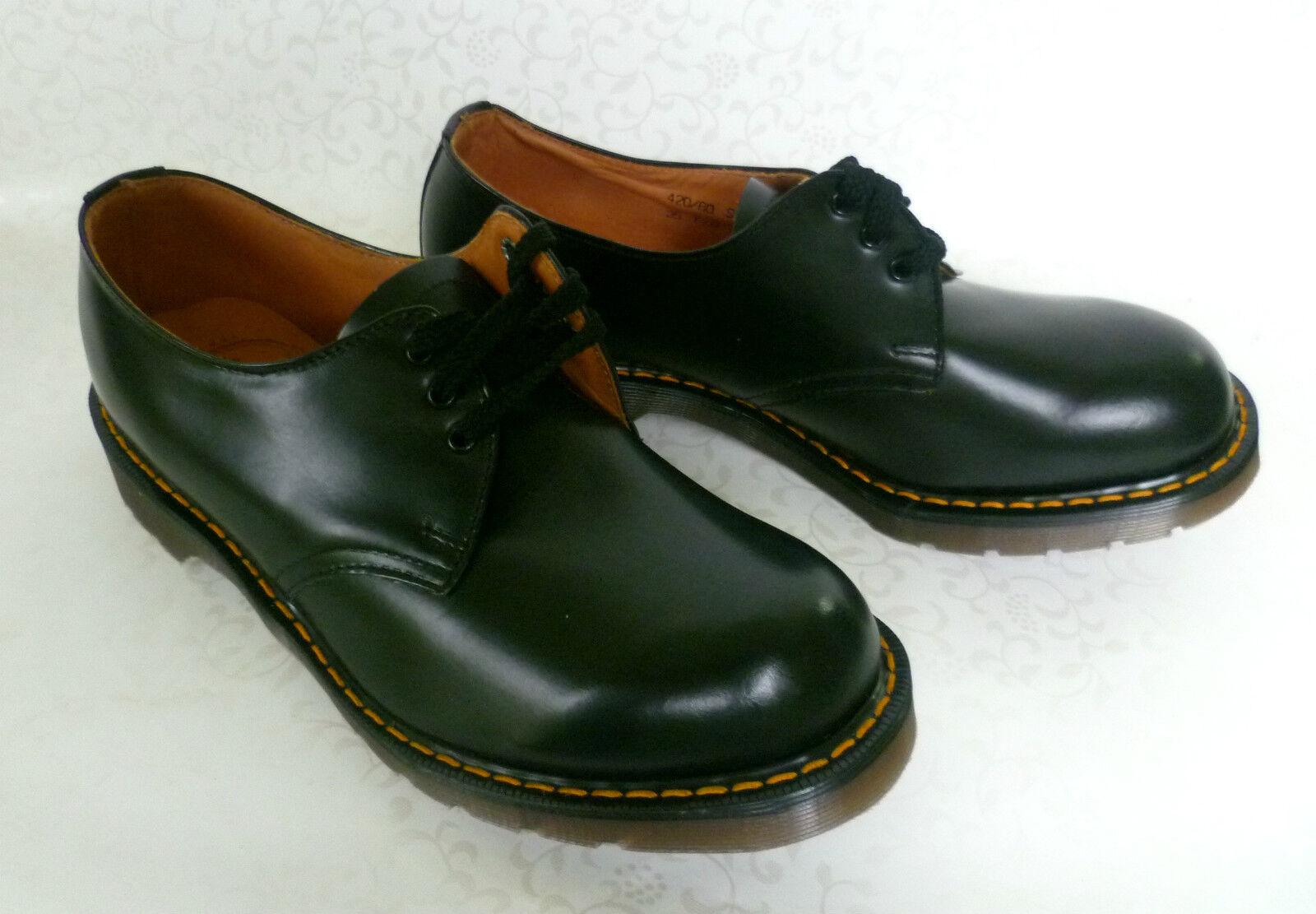 Dr. Martens Black Lea Tie Shoe, 3-Loch Halbschuh, Gr. 36, 38, 39