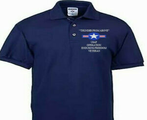 OPERATION ENDURING FREEDOM VETERAN USAF EMBROIDERED POLO SHIRT/SWEAT/JACKET.