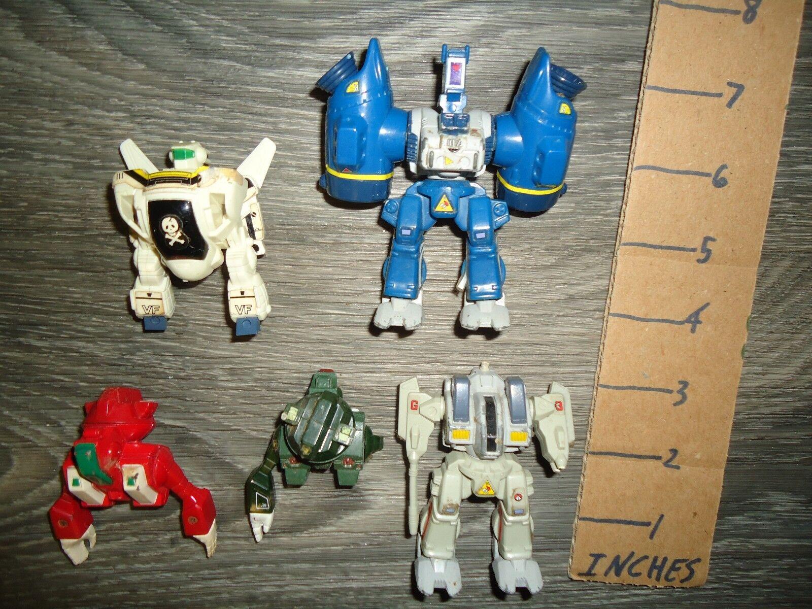 Vintage Robotech 1980s Valkyrie mini  diecast lot mini jetfire cool