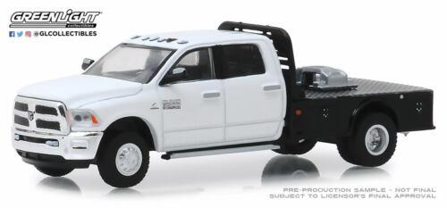 Greenlight Dodge RAM 3500 Laramie Dual Flachbett 2019 Weiß 46010 F 1//64