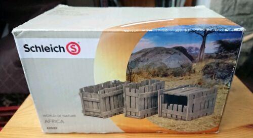 Schleich 42022 World of Nature Afrique Crate Set Safari accessoires animaux jouets