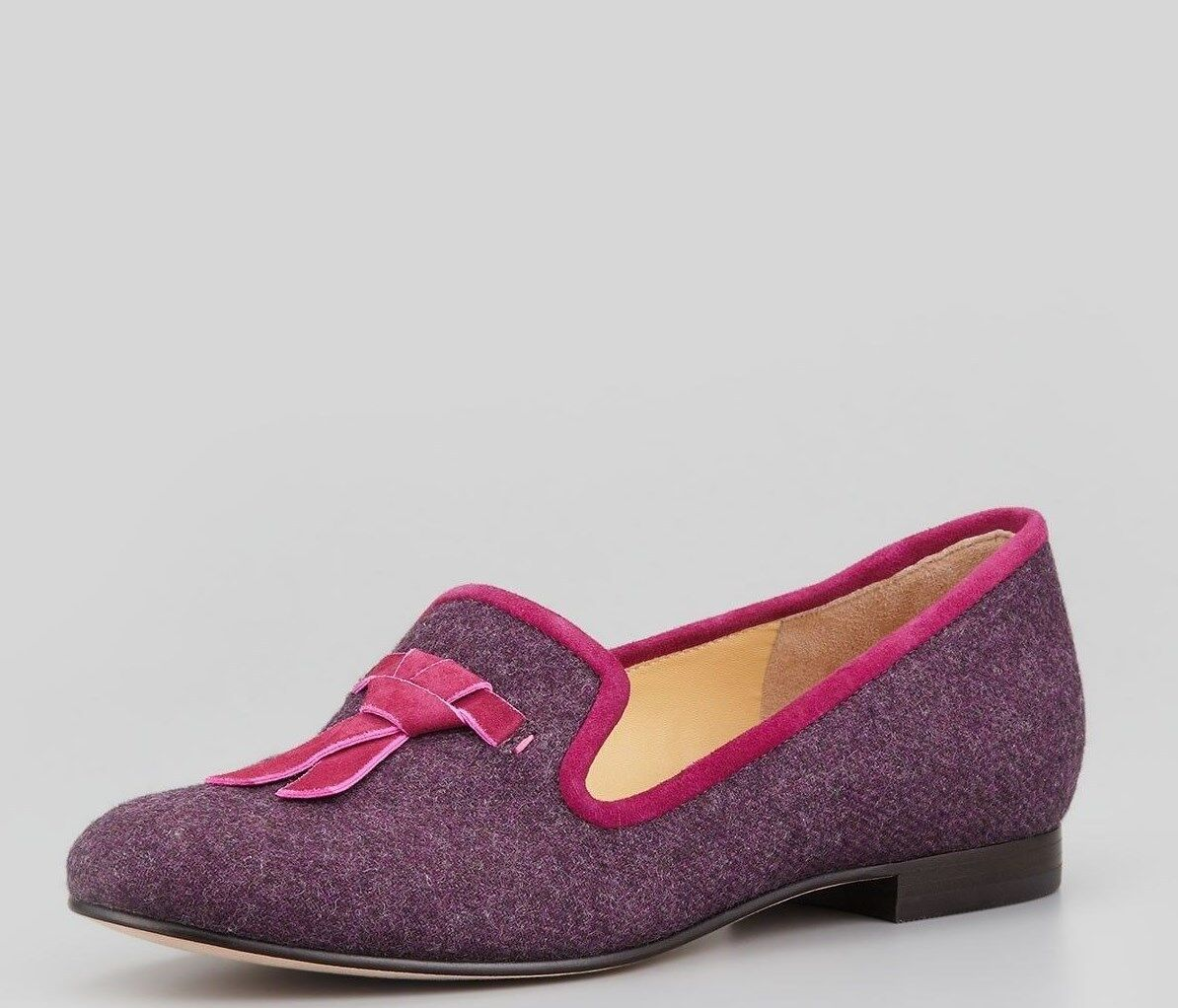 Cole Haan Sabrina Tassel Winery Flannel Loafer shoes Womens 8 8 8 NEW IN BOX e5c06f