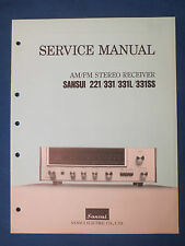 SANSUI 221 331 331L 331SS RECEIVER  SERVICE MANUAL ORIGINAL FACTORY ISSUE