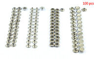 100x Fastener Snap Press Stud Cap Button Marine Boat Canvas Stainless Steel Us