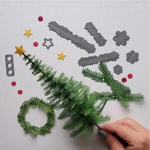 1 Set Christmas Tree Wreath Cutting Dies Stencil Metal DIY Craft Gifts for Kids
