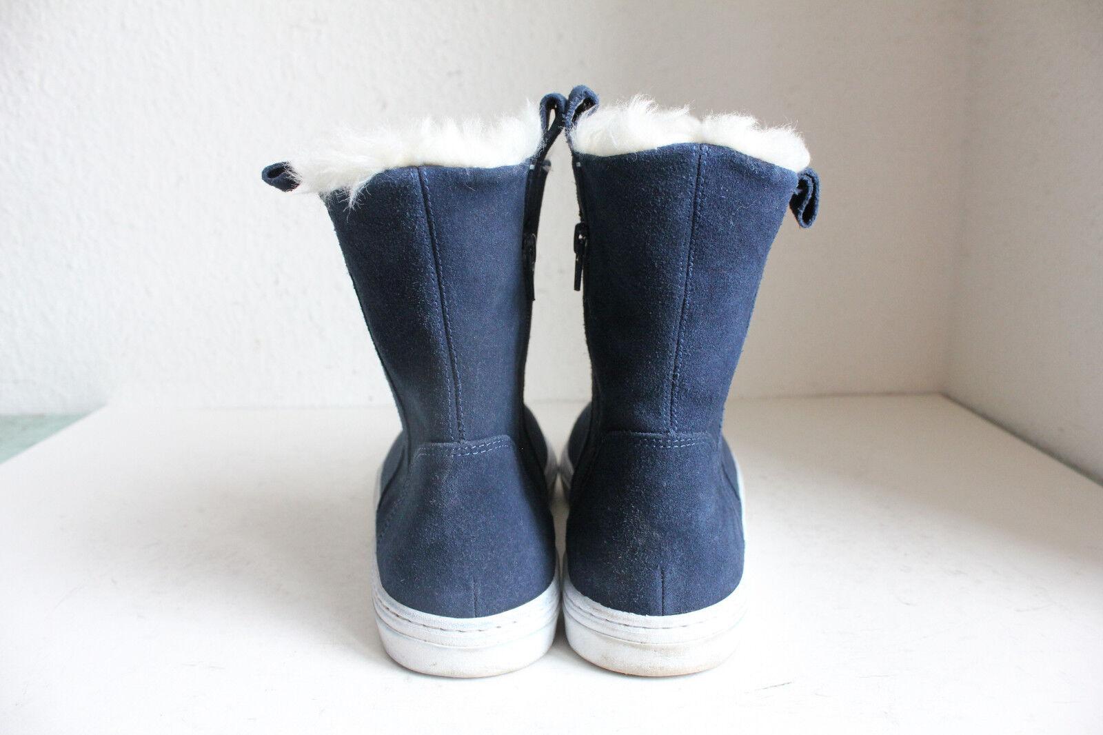 Zara Trafuluc Trendy Winter Mode Stiefeletten Stiefel Stiefel Stiefel Echtleder Dunkelblau Eu:41 50f0e4