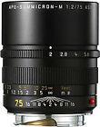 Leica Apo-Summicron-M 75 mm F/2.0 Aspherical Objektiv (Schwarz)