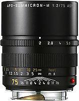 Leica APO-SUMMICRON-M 75mm f/2 Aspherical APO MF Lens