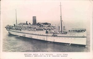 Postcard-Shipping-British-India-S-S-Nevasa-posted