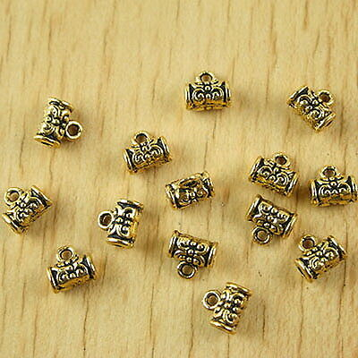 50pcs dark gold-tone small BAIL charms h2218