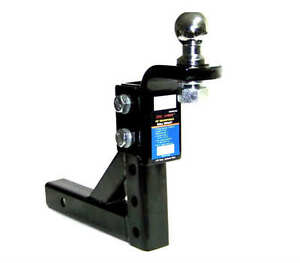 Adjustable-Trailer-10-034-Drop-Hitch-Ball-Mount-2-034-Receiver-With-2-5-16-034-hitch-ball