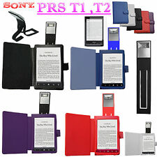 CASE COVER + READING LIGHT +SCREEN PROTECTOR For SONY PRS T1 T2 BLACK RED PURPLE