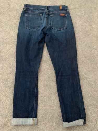 7 For Jeans 25 All Dark Skinny Denim Crop The Roll Mankind And qa1Aq