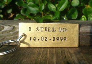 I Still Do Solid Brass 21st Wedding Anniversary Gift