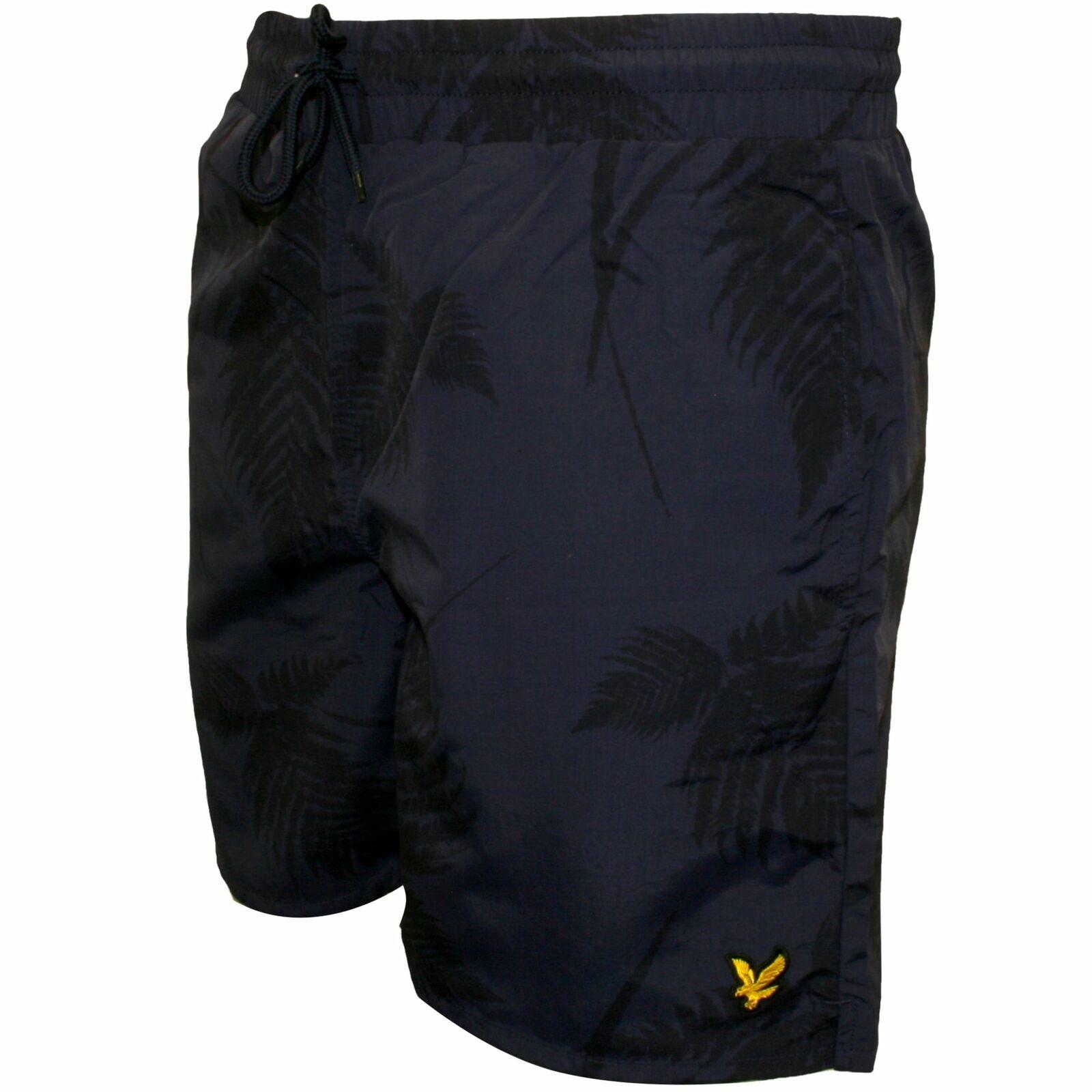 Lyle & Scott Fern Print Men's Swim Shorts, Navy