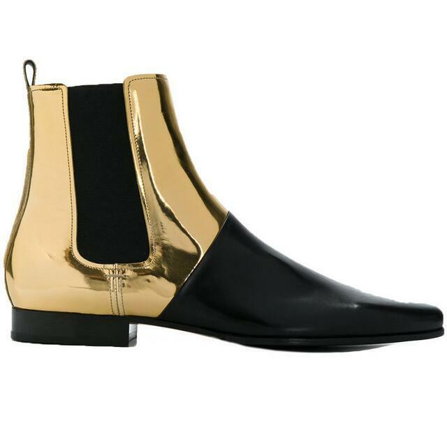Retro Splice Mens European Real Leather BOOT Ankle Boots Shoes Zsell