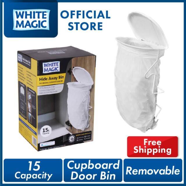 White Magic Hide Away Bin Cupboard Door Bin 15 Lite Capacity