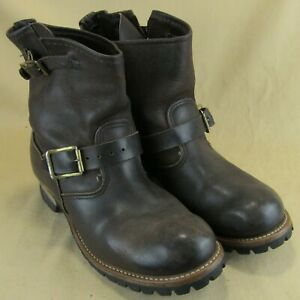Golden-Retriever-US-10-M-Men-Ankle-Boots-Buckle-Work-Ruggid-Brown-Leather