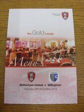 30/11/2013 Rotherham United V Gillingham-LUCIDA quattro menu pagina, L'Oro Lungo