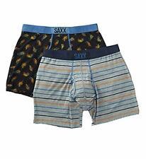 SAXX ULTRA Boxer Brief Fly Men/'s Underwear Black Multi Stripe Size S L NWT
