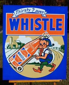 OLD-STYLE-20-034-WHISTLE-ELF-DRINK-SIGN-LIKE-ORIGINAL-THICK-STEEL-USA-MADE-SUPER