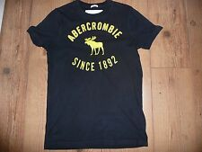 SUPERB ORIGINAL MENS ABERCROMBIE & FITCH BLUE T SHIRT SIZE SMALL