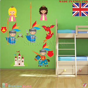 Happy Dragon Fantasy Wall Sticker Decal Transfer Kids Bedroom Boys Matt Vinyl UK