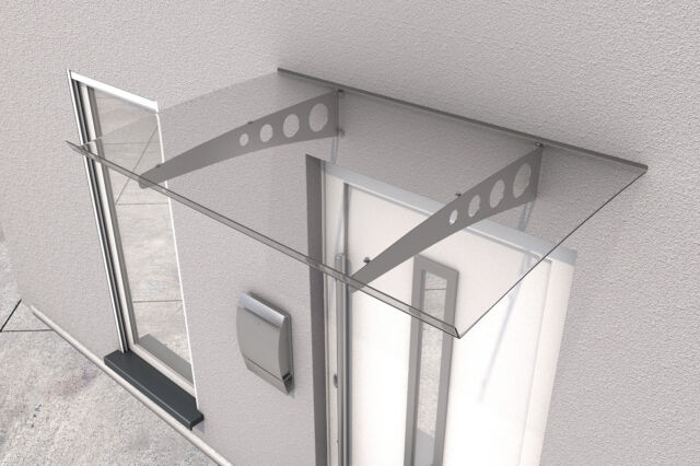 Haustürvordach 160 x 90 cm mit Acrylglas Gutta Pultvordach PT//G