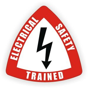 Electrical Safety Trained Hard Hat Decal / Label / Helmet Sticker / Electrician