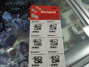 """KMC MISSING LINK II----7 AND 8 SPEED 1//2/"""" X 3//32/"""" BICYCLE CHAIN LINKS--PACK OF 2"""