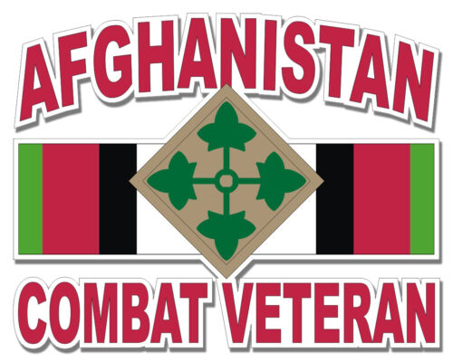 4th Infantry Division Afghanistan Combat Veteran 5.5 Sticker / Decal