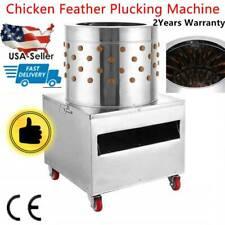 Poultry De Feather Turkey Chicken Plucker Plucking Machine 50s Stainless Steel