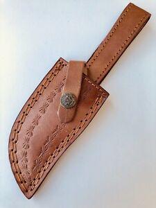 Custom-Hand-Made-Pure-Leather-Sheath-For-Fixed-Blade-Knife-Q-547