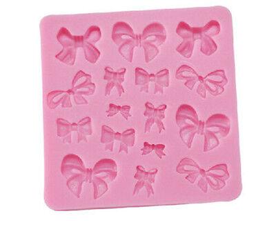 Soft Silicone Fondant Decorating Bowknot Modelling Cake Mold Mould Baking Tools