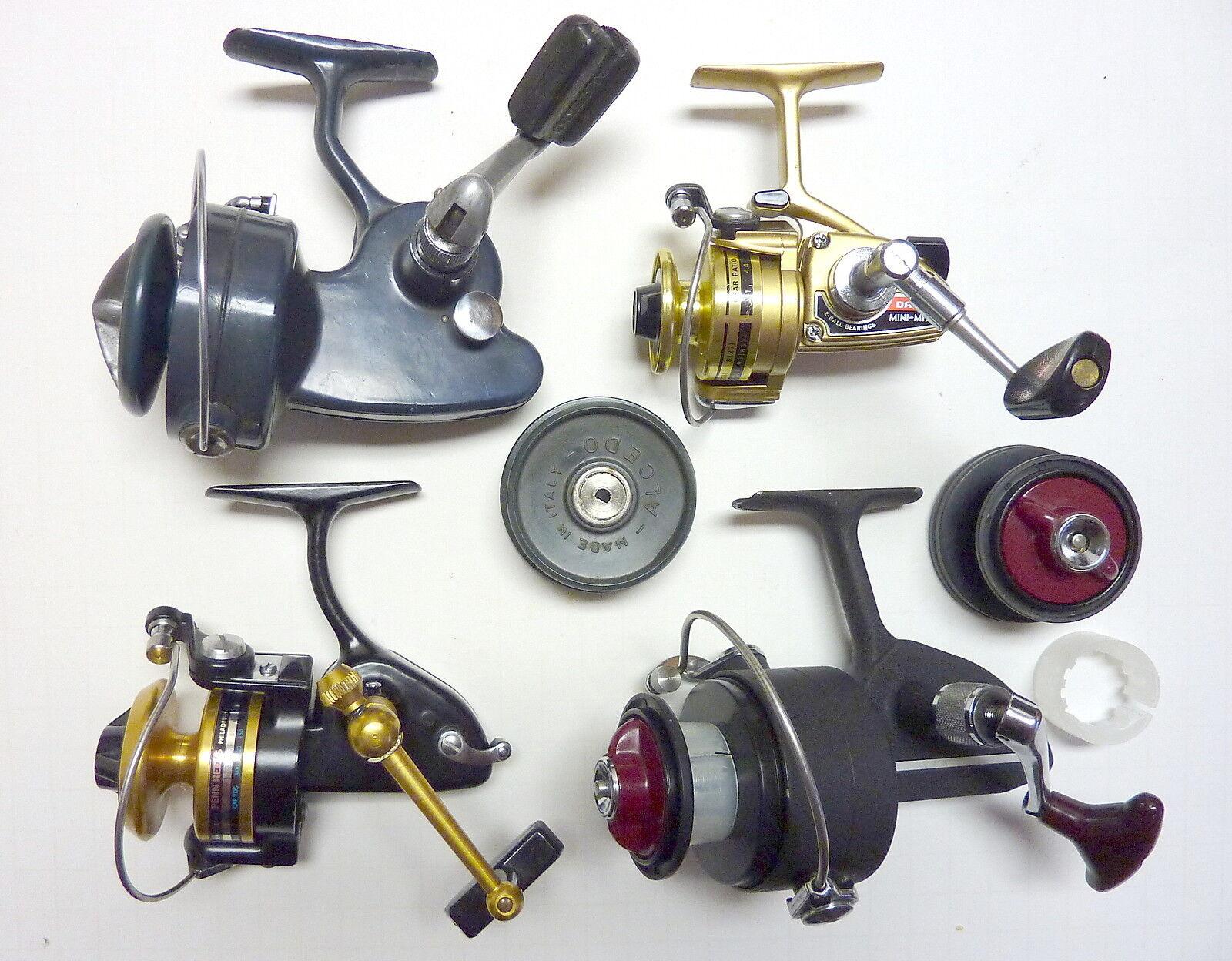 Vintage International Spinning Fishing Reel Collection  Alcedo, Daiwa, Penn,  DAM  gorgeous