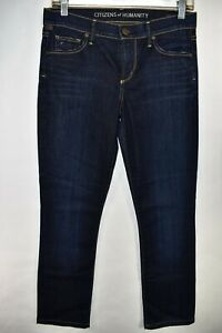 Citizens-of-Humanity-Ava-Low-Rise-Straight-Leg-Size-27-Jeans-Meas-29x29-Stretch