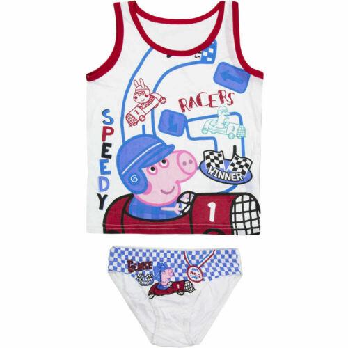 Peppa Pig Wutz Unterwäsche-Set für Jungs George Schorsch Slip Unterhemd Set