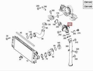 Details about GENUINE Mercedes OM642 Engine Turbocharger Intercooler on