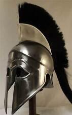 Greek Corinthian Helmet Ancient Armour Armor with Black plume Steel Finish